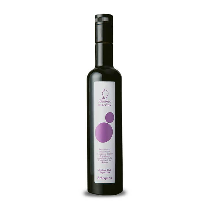 Basilippo - Selección - Arbequina - Ecológico - Aceite de oliva virgen extra 500 ml