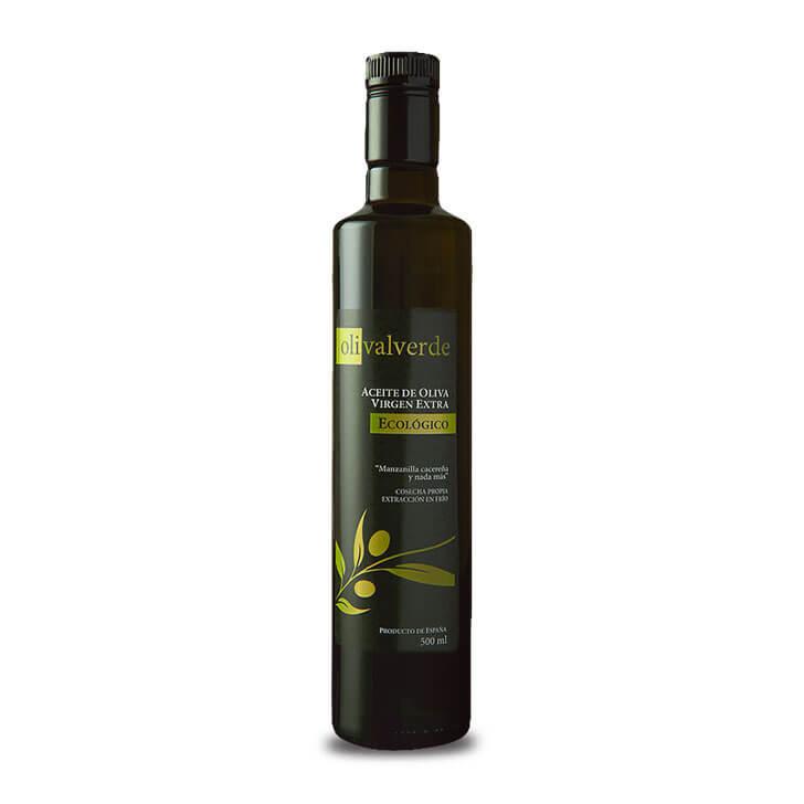 Olivalverde - Manzanilla Cacereña - Ecológico - Aceite de oliva virgen extra 500 ml