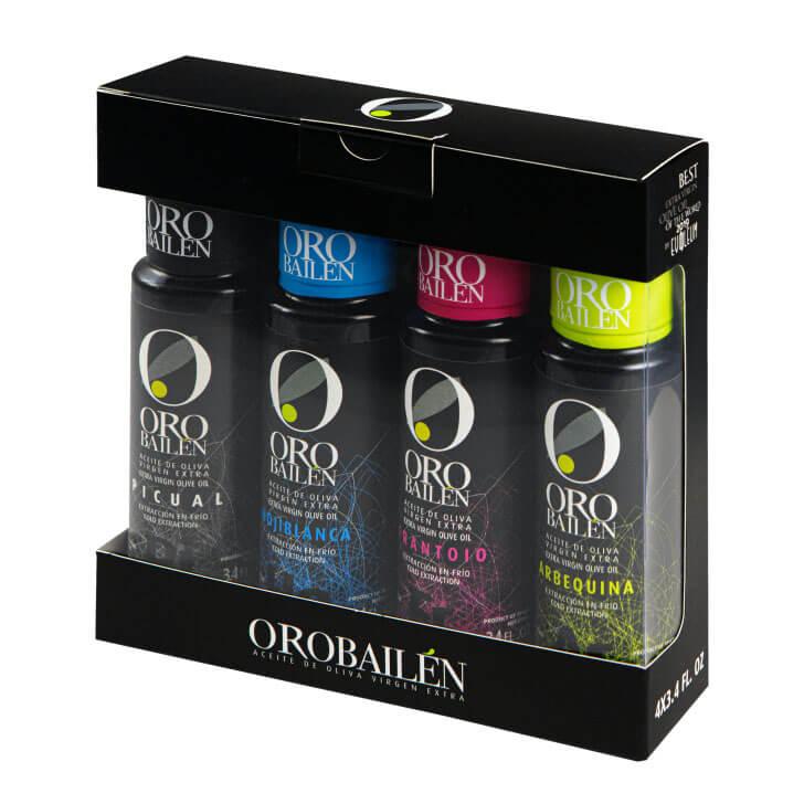 Oro Bailen - Frantoio - Aceite de oliva virgen extra 4 x 100 ml