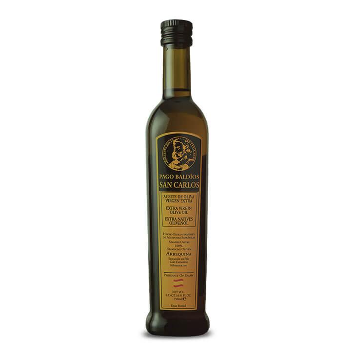 Pago Baldíos San Carlos - Primera Cosecha - Arbequina - Aceite de oliva virgen extra 500 ml