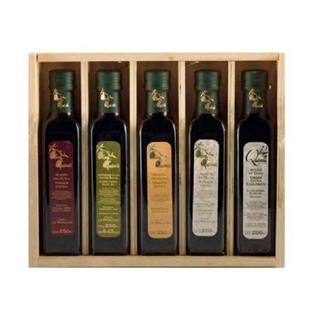 Oleo Quirós - Degustación - Ecológico - Aceite de oliva virgen extra 5 x 250 ml