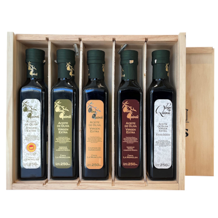 Oleo Quiros - Coupage - Aceite de oliva virgen extra 5 x 250 ml