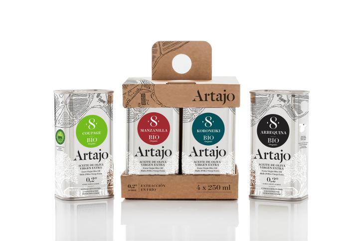 Artajo - Degustación - Ecológico - Aceite de oliva virgen extra 4 x 250 ml