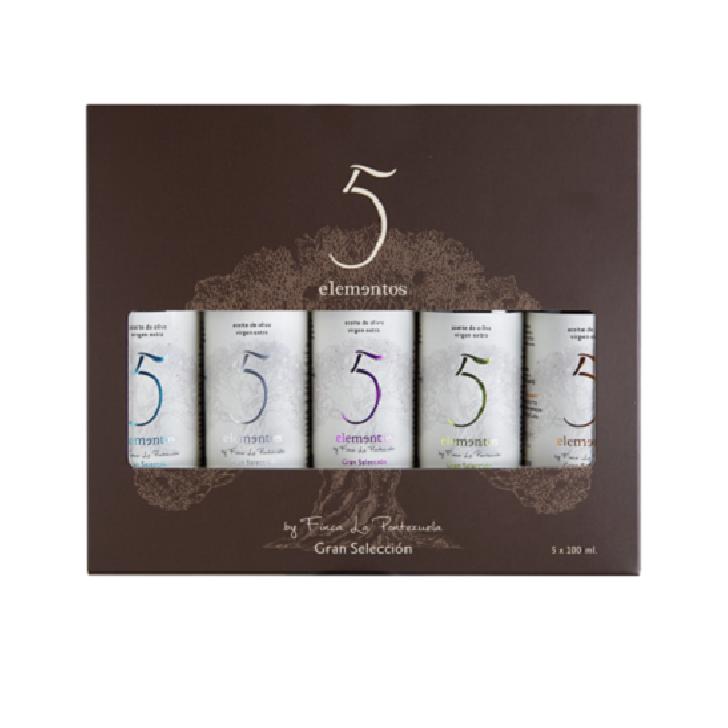5 Elementos - Degustación - Aceite de oliva virgen extra 5 x 100 ml