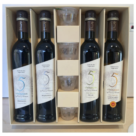 5 Elementos - Degustación - Aceite de oliva virgen extra 4 x 500